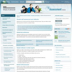 Student self assessment and reflection / Examples and templates / Reporting to parents & whānau / Home