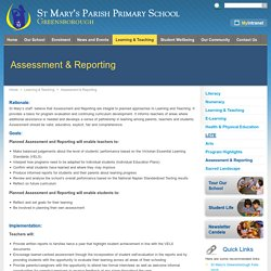 Assessment & Reporting
