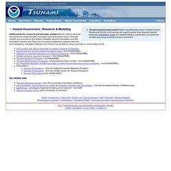 NOAA Tsunami Hazard Assessment Research & Modeling