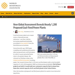 New Global Assessment Reveals Nearly 1,200 Proposed Coal-Fired Power Plants
