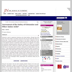 Assessment of the Safety of Glutamine and Other Amino Acids