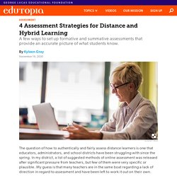 4 Assessment Strategies for Distance and Hybrid Learning in High School