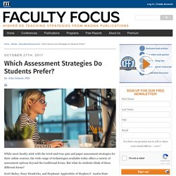 Which Assessment Strategies Do Students Prefer?