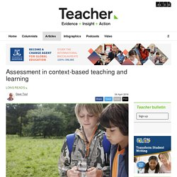 Assessment in context-based teaching and learning