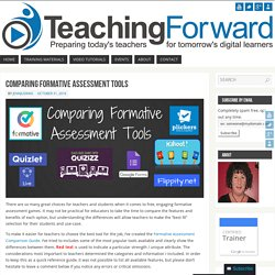Comparing Formative Assessment Tools – TeachingForward