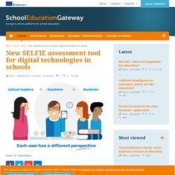 New SELFIE assessment tool for digital technologies in schools