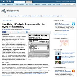 How Using Life Cycle Assessment Is Like Trying To Eat Healthy