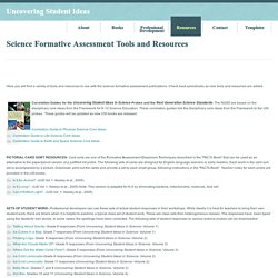 Science Formative Assessment Tools and Resources