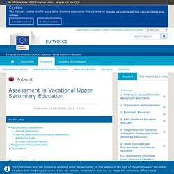 Assessment in Vocational Upper Secondary Education