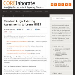 Two-fer: Align Existing Assessments to Learn NGSS - CORElaborate