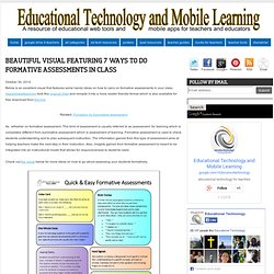 Educational Technology and Mobile Learning: Beautiful Visual Featuring 7 Ways to Do Formative Assessments in Class