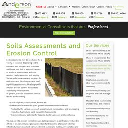 Soils Assessments and Erosion Control – Anderson Environmental