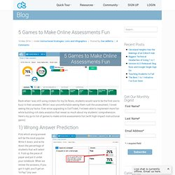 5 Games to Make Online Assessments Fun ExitTicket Student Response System