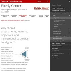 Align Assessments, Objectives, Instructional Strategies - Eberly Center