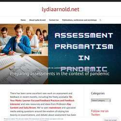Preparing assessments in the context of pandemic – lydiaarnold.net