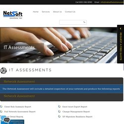 IT Assessments Services - Netsoft solutions