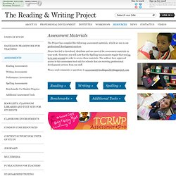Rubrics from Reading&Writing Project