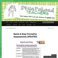 Quick & Easy Formative Assessments UPDATED