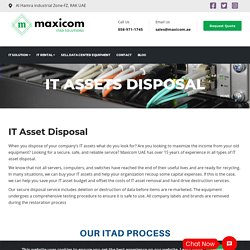 ITAD- IT Asset Disposal Needs For All Business