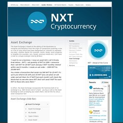 Asset Exchange - The Beginner's site for NXT!