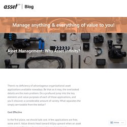 Asset Management: Why Asset Infinity? – Asset Infinity Blog