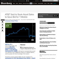 AT&T Said to Seek Asset Sales to Save Bid for T-Mobile