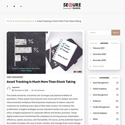 Asset Tracking Is Much More Than Stock Taking - SeQure