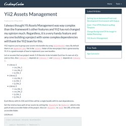 Yii2 Assets Management