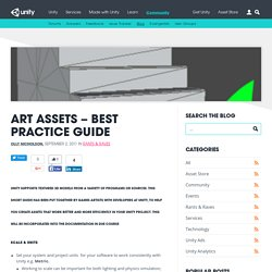 Art Assets – best practice guide – Unity Blog