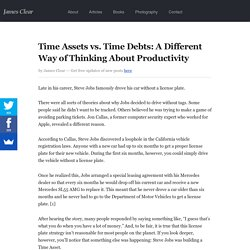 Time Assets vs. Time Debts: A Different Way of Thinking About Productivity