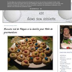 Biscuits nid de Pâques à la vanille