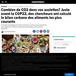 Combien de CO2 dans vos assiettes? Juste avant la COP22, des chercheurs ont calculé le bilan carbone des aliments les plus courants