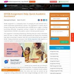 MYOB Assignment Help: Quick Academic Assistance