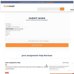 Do my Java Assignment Help with Java Assignment experts - Codeavail