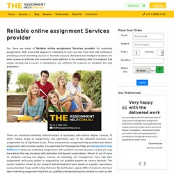 reliable online assignment Services provider for marketing assignments?