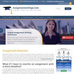 Assignment Rewriter ~ Assignmentwritings.Com