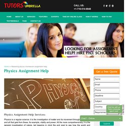 Best Tutors For Physics Assignment Help