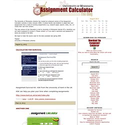 Assignment Calculators