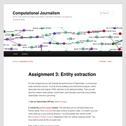Assignment 3: Entity extraction