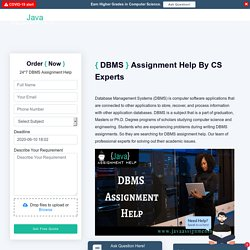 Database Assignment Help By Experts