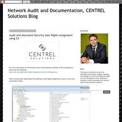 Audit and document Security User Rights Assignment using C#