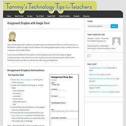 Assignment Dropbox with Google Form