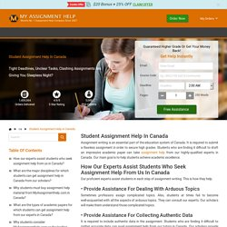 Student Assignment Help at Pocket-Friendly Rates - Offer For Students