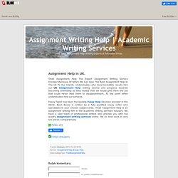 Assignment Help In UK.