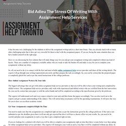 Assignment Help Toronto