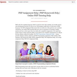 Onlin... - PHP Assignment Help - Quora