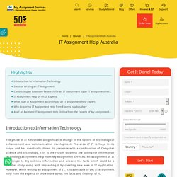 Upto 50% OFF on Information Technology Assignment
