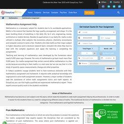 Mathematics Assignment Help Online