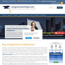 Buy Assignment in Melbourne