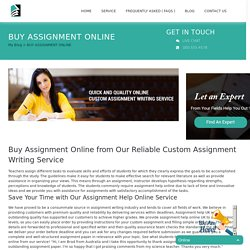 You Can Buy Assignment Online UK With 100% Money Back